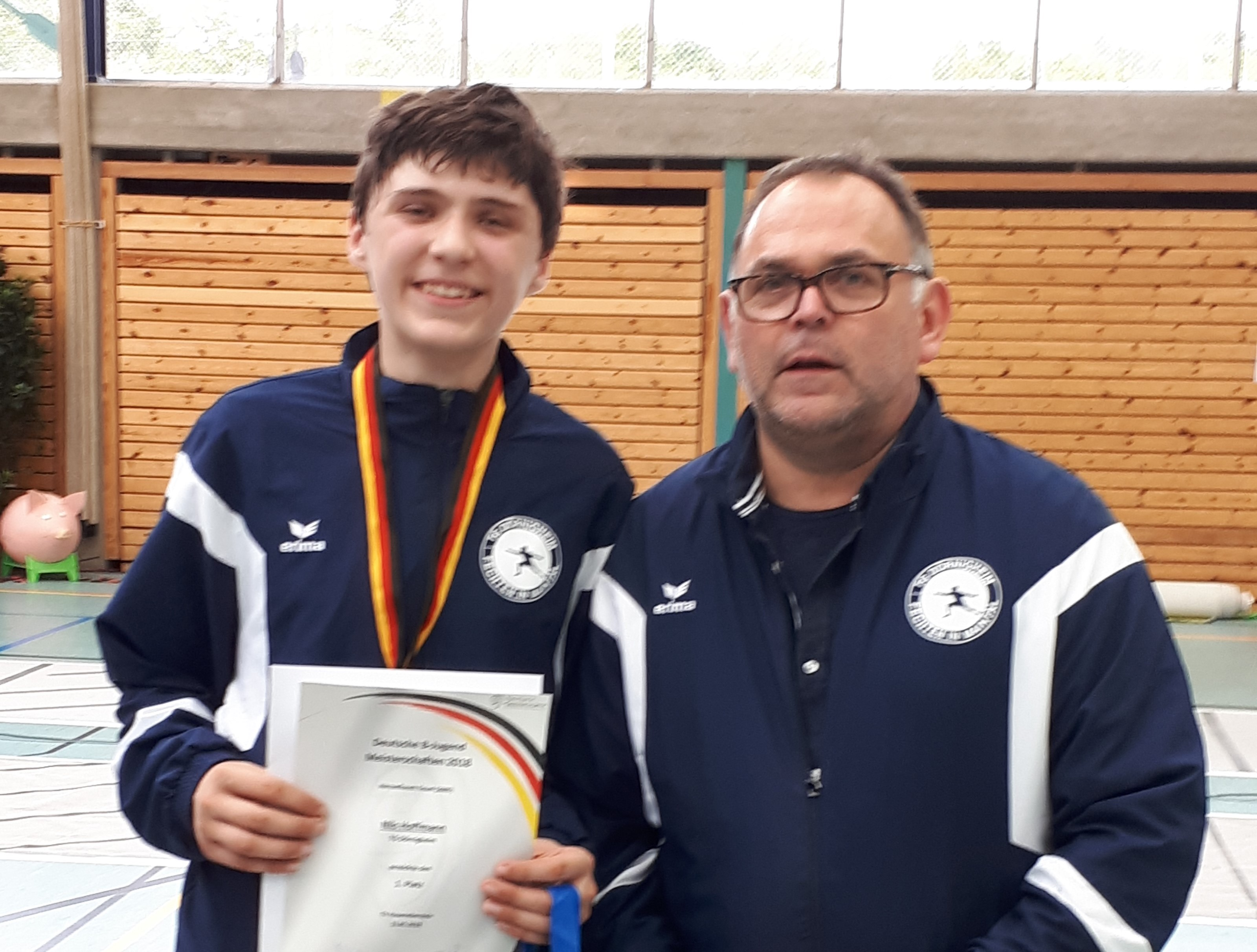 Nils Deutscher Meister mit Trainer Christoph Frohwein